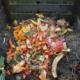 Kompost im Garten